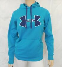 Under Armour Womens Size XS Hoodie Sweatshirt Blue Loose Fit