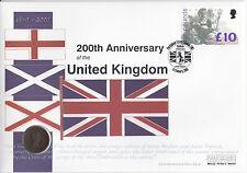 200th Anniversary of the United Kingdom  Commemorative 1806 Coin £10.00  Cover
