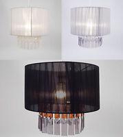 Light Shade 30cm Diameter Ribbon & Gems