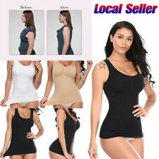 Women Cami Body Shaper Genie Bra Tank Tops Firm Tummy Control Slimming Camisole