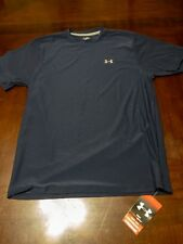 Under Armour Compression Shirt Men Small Fitted Heat Gear Navy Blue