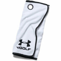 Under Armour Golf Towel White/Black/Black - OSFA