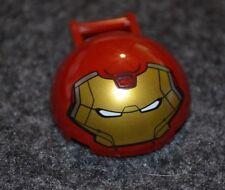 (1) 4x4 Dark Red Dome w/ Iron Man Emblem and Handle Bricks ~ Lego  ~ NEW ~