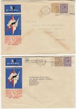 IMPERIAL AIRWAYS 1934 2x ENGLAND-AUSTRALIA official covers with BOOTLE & LONDON