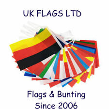 More details for  team flags & fabric bunting england wales scotland france spain