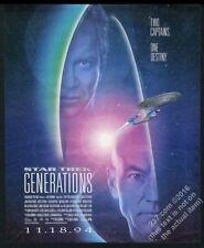 1994 Star Trek Generations movie release USS Enterprise art vintage print ad