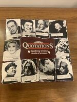 The Game Of Quotations Vintage Game By MB Games