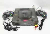 SEGA Saturn SS Clear Skeleton Console HST-3220 controller tested working