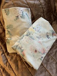 Vintage Ralph Lauren Francesca Floral Ruffled Pillow Shams (set of two)