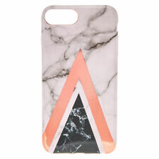 Claire's Girl's Geometric Marbled Phone Case - Fits iPhone 6/7/8 Plus White