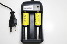 CHARGEUR RS08 + 2 BATTERIE PILE 16340 CR123 2500mAh RECHARGEABLE 3.7V ION ACCU