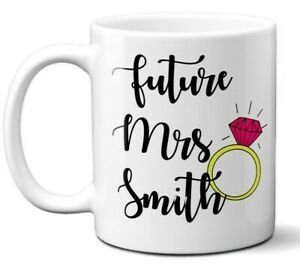 Valentines Proposal Future Mrs Wedding Fiance Tea Coffee Mug Gift 11oz Ceramic