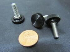 "Plastic Black Stainless Thumb Screw, 5/8"" Head Dia. x 10-32 x 5/8"" Length, 25 Pc"