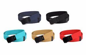 Hold'Em Military Canvas Webbing Belts for MEN'S–Black Buckle – Universal Heavy D
