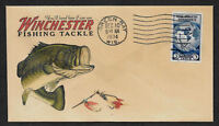1930s Largemouth Bass Winchester Fishing Ad Reprint Collector's Envelope OP952