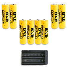 8pcs BXE 18650 Battery 9800mAh Li-ion 3.7V Rechargeable Batteries + Dual Charger