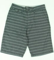 Quicksilver Boys Striped Stretch Shorts Grey 26 New