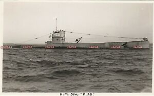 "Photograph Royal Navy. HMS ""H28"" Submarine. anti aircraft gun. WW1. Fine! 1918"