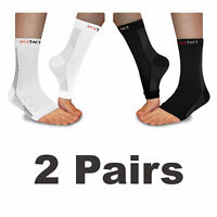 2 Pairs Plantar Fasciitis Socks Compression Socks For Ankle & Heel Arch Support