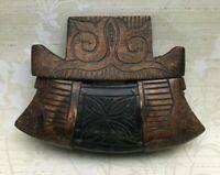 Antique Primitive Folk Art Carved Wood Sculpture Mystery Tool RARE