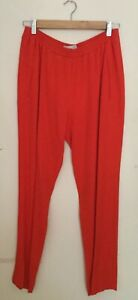 STELLA McCARTNEY Tomato Red Rayon Pants Size 44 (L 14 ) Made in Hungary