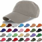 Plain Washed Cap Polo Style 100% Cotton Adjustable Baseball Cap Blank Solid Hat