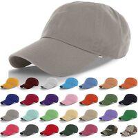 Cotton Cap Baseball Caps Hat Adjustable Polo Style Washed Plain Solid Visor