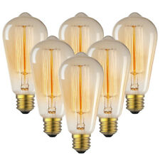 1/3/6 Pack Vintage Edison Light Bulbs 60W E26 Soft Filament Antique Retro Lamp