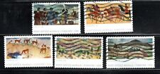 2019 Sc #5372-76 Forever Post Office Murals 5 Canceled