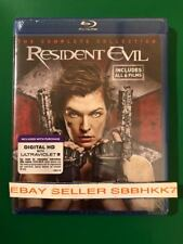 Resident Evil 1-6 The Complete Six Movie Collection Blu-Ray + Digital HD New