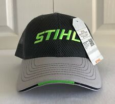 Stihl Cool Mesh Overlay Gray and Green Hat / Cap
