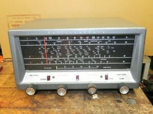 Old Hallicrafters S-38E Short Wave Ham Tube Radio Receiver - works