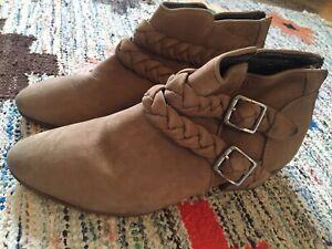 Bottines Boots Comptoir Des Cotonniers T.38, Daim Naturel, Style Camarguaises