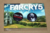 Far Cry 5 FarCry Rare Promo Pin Button Set PS4 Xbox One from Gamescom 2017 .