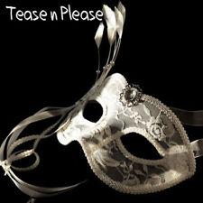 Venetian Style Premium White Ladies Mask Tease n Please. Fantasy, Masquerade