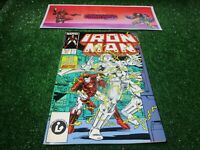vtg invincible Iron Man 221 Marvel Comic book 1st print