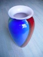 Mehrfarbige Glasvase Tischvase Bodenvase aus Glas Design Vase bunt Höhe 29,0 cm