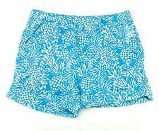 Caribbean Joe Island Supply Co Womens Casual Shorts Aqua White Pineapple 12