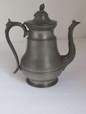 Antique Pewter Coffee Tea Pot