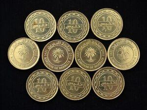 Bahrain 10 Fils coin Circulated Age random 10PCS, LOT wholesale