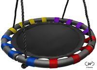 Kids Spinner Swing Backyard Indoor Outdoor Round Mat Playground Tree Swing Set