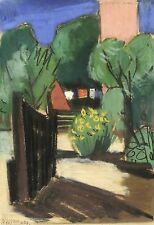 HORST STREMPEL - GARTEN (HIDDENSEE) - Pastellkreide 1951