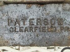 "Lot of 2 ""PATTERSON CLEARFIELD PA"" Fire Brick NAME BRICK Clearfield County PA"