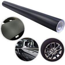 3D 5' x 100' Carbon Fiber Vinyl Wrap Rolls Motorcycle Vehicle Sticker Black New