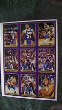 Planche de 9 cartes basketball NBA Magic Johnson!
