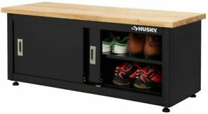 Home Garage Storage Organization Free-Standing Workshop Steel Cabinet Bench
