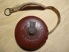 antikes 10 Meter Massband - Railway Measuring Tape - Best Leather Case