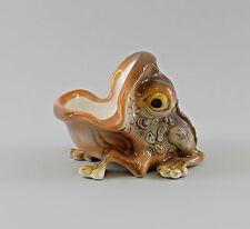 Figurines En Porcelaine Bol Crapaud Grenouille Crapaud Ens 13x10cm 9997094