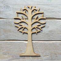 2 Pack Wooden Tree Blank Craft Shape Fairy Garden Fairy Scene PACK OF 2 (17cm)