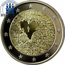 Finnland 2 Euro Gedenkmünze 2008 PP 60 Jahre Menschenrechte im Etui & Zertifikat